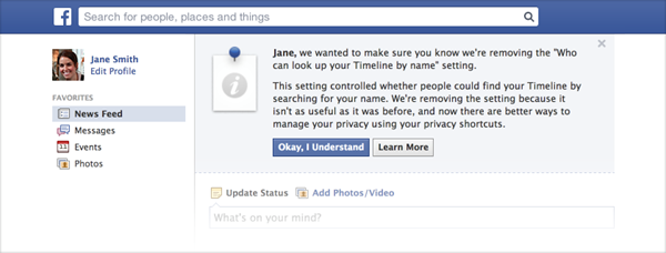 Facebook Display authorization